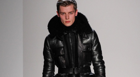 Belstaff show as part of Milan Fashion Week Menswear Autumn/Winter 2013 on January 15, 2013 in Milan, Italy.