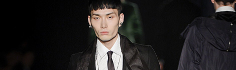Diesel Black Gold show as part of Milan Fashion Week Menswear Autumn/Winter 2013 on January 15, 2013 in Milan, Italy.