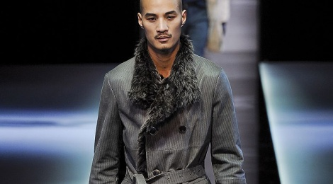 Giorgio Armani show as part of Milan Fashion Week Menswear Autumn/Winter 2013 on January 15, 2013 in Milan, Italy.