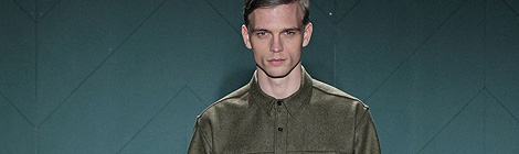 Perry Ellis by Duckie Brown fall 2013 fashion show during Mercedes-Benz Fashion Week at Highline Stages on February 12, 2013 in New York City.