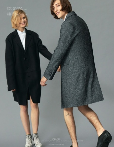 Maria Loks & Jake Lucas by Andrea Spotorno - Collections AutumnWinter 2013 - Dazed & Confused - DerriusPierreCom (1)