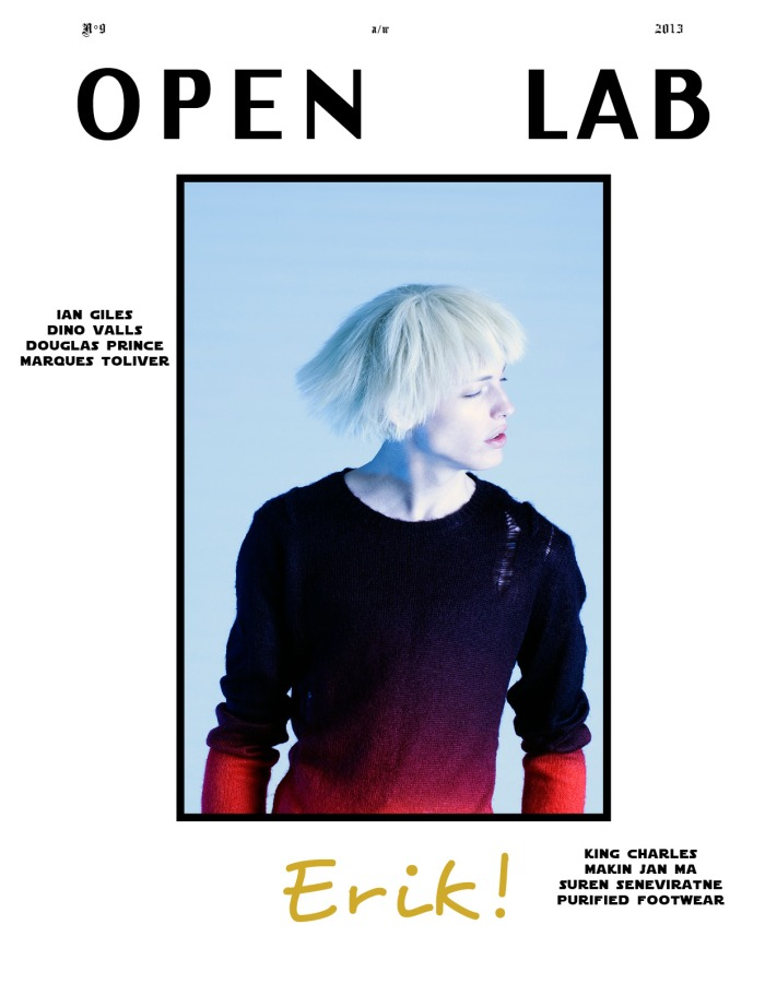 Erik Andersson For Open Lab FallWinter 2013 Cover - DerriuspierreCom
